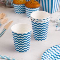 Carnival Blue Paper Cups - Waves (8)